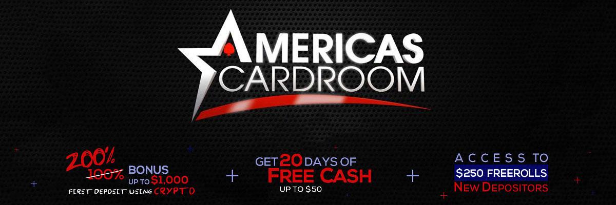 Americas Cardroom! bonus